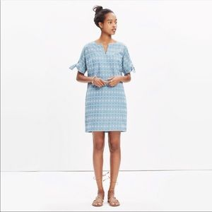Madewell embroidered the sleeve dress